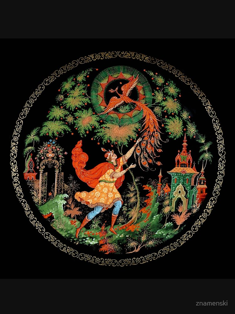 Plate, Painting, Decorative Plate, Russian Fairy Tales by znamenski
