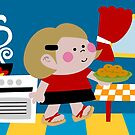 Mari Is Cooking Donuts by Sonia Pascual
