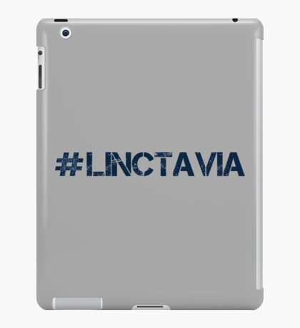 #LINCTAVIA (Navy Text) iPad Case/Skin