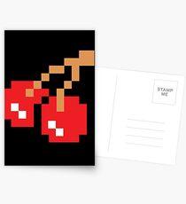 8-Bit Cherry Postcards