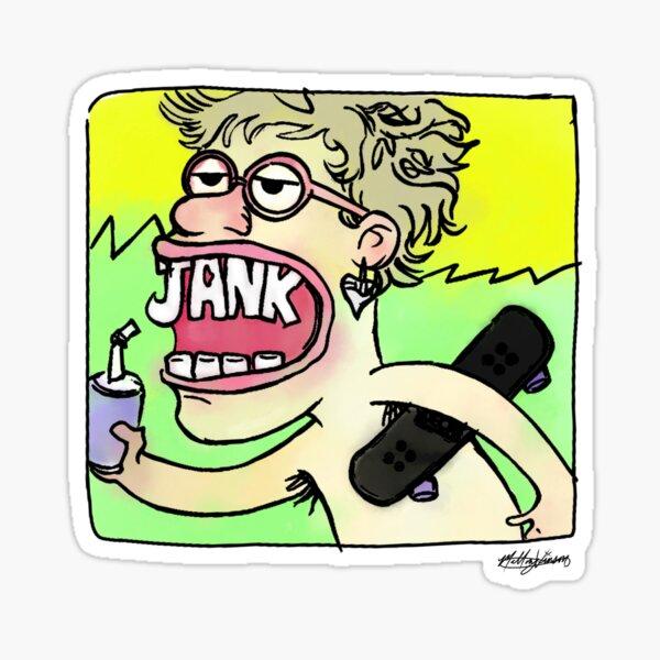 Jank versac summer Alt cover with skateboard fanart by Mallory Vinson Sticker