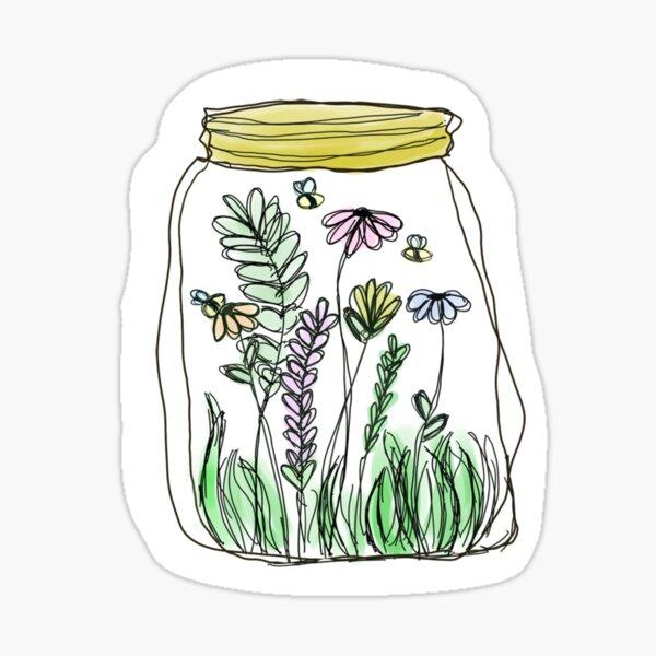 Flower Jar Sticker