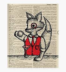 Fox with Monocle Photographic Print