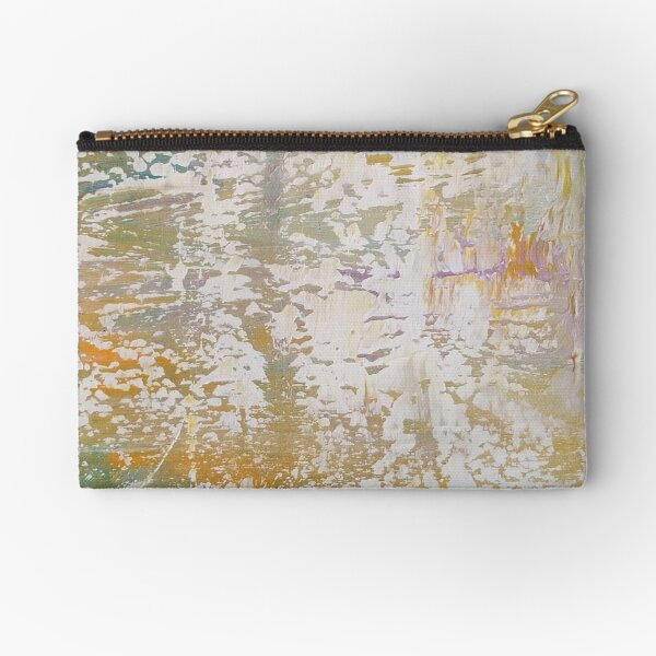 Soft Goes The Light painting on products. Zipper Pouch