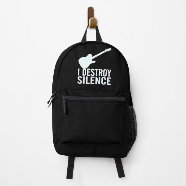 I Destroy Silence - Funny Gift For Guitar Players  Backpack