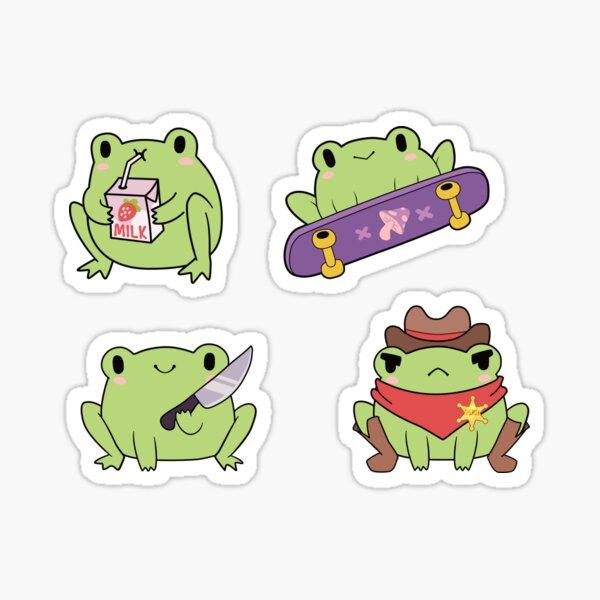 Cute Frog Pack Sticker