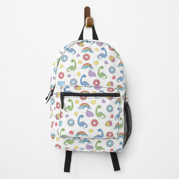 Sweet dinosaurs and colored donuts Backpack