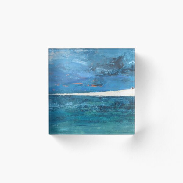Hayle beach Acrylic Block