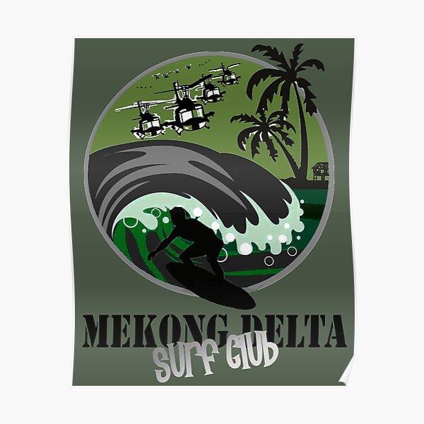 MEKONG DELTA SURF CLUB (NUMÉRO DE L'ARMÉE) Poster