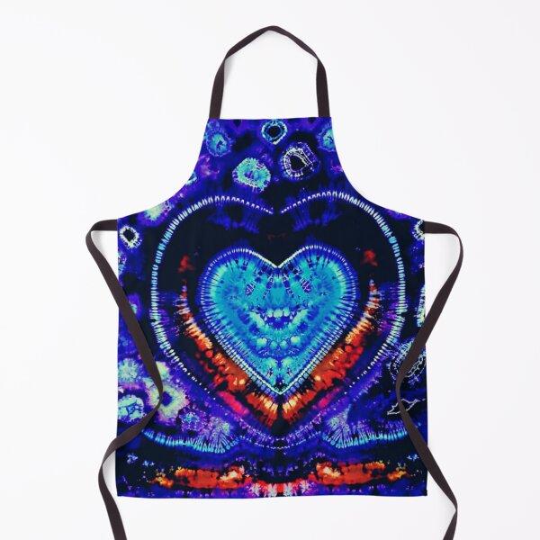 Flaming Love Tie Dye Heart Apron