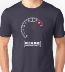 Redline makes me happy Slim Fit T-Shirt