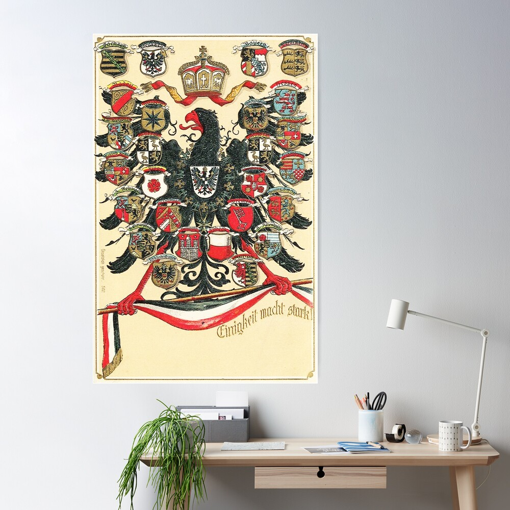 German Empire...Kingdoms, States and Free Cities Poster