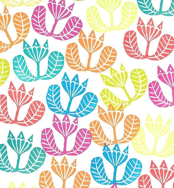 Block print flowers by zsalto
