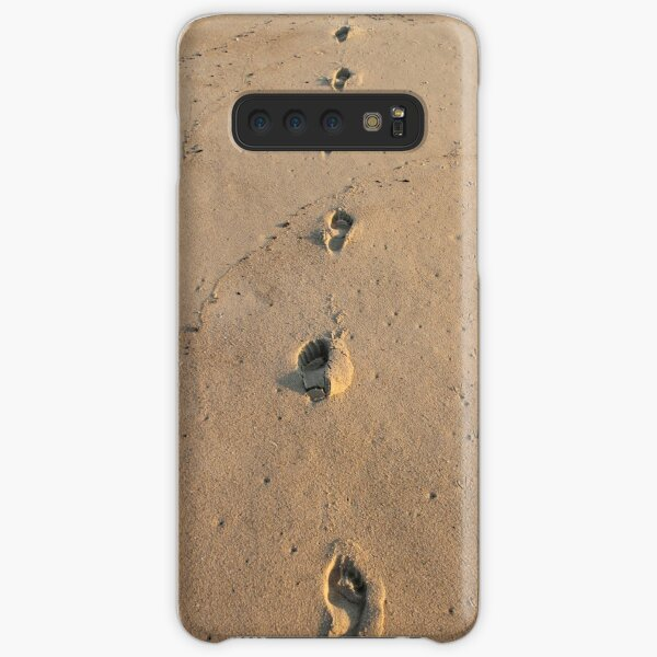 Bare footprints on the coastal sand Samsung Galaxy Snap Case