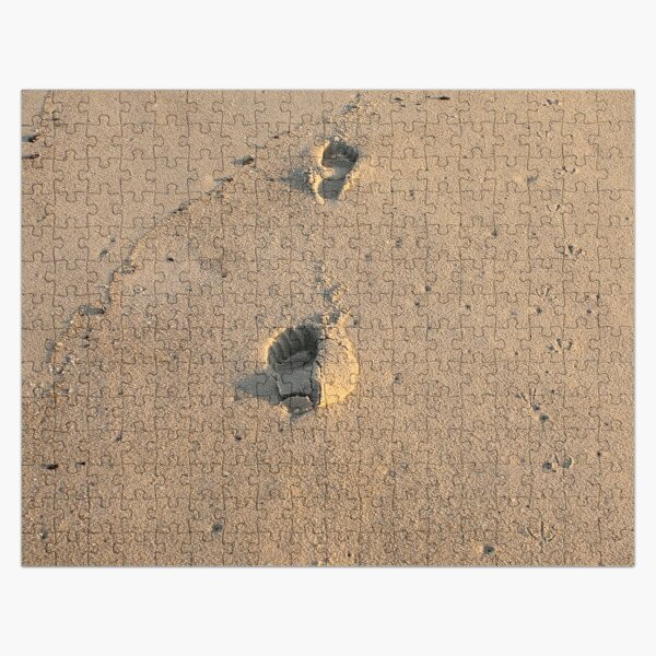 Bare footprints on the coastal sand Jigsaw Puzzle