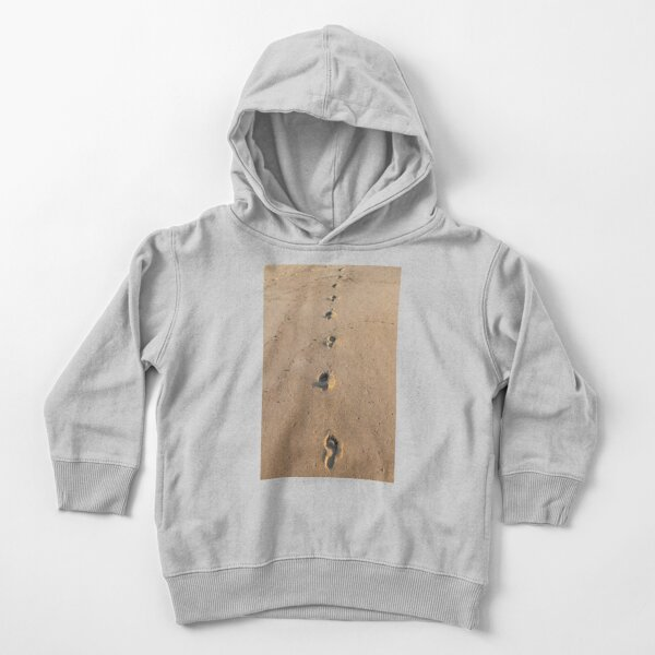 Bare footprints on the coastal sand Toddler Pullover Hoodie