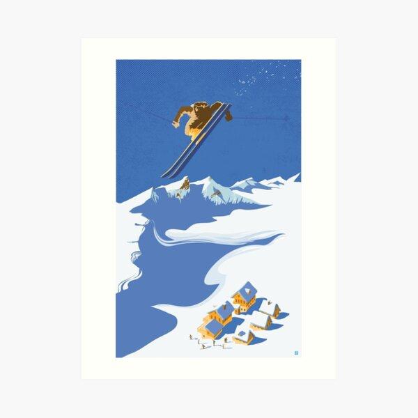 Sky Skier Art Print