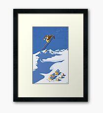 Lámina enmarcada Sky Skier