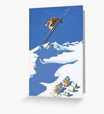 Sky Skier Greeting Card