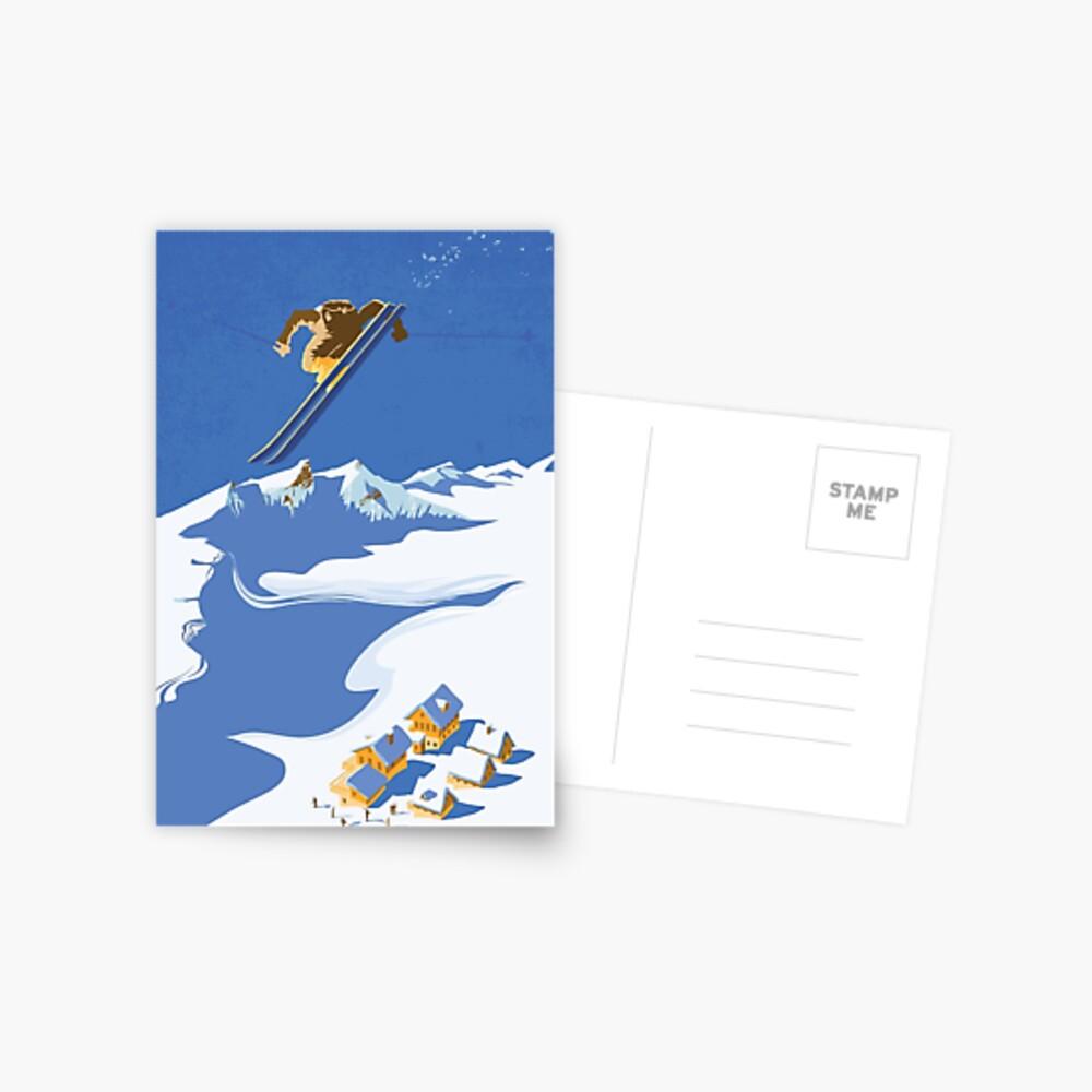 Sky Skier Postcard