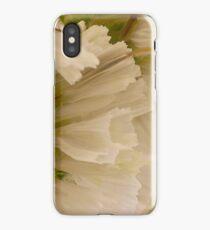 White Statice Macro  iPhone Case/Skin