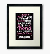 Big colorful world with hairdresser Framed Print