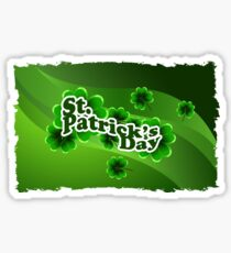 patricks day abstract Sticker