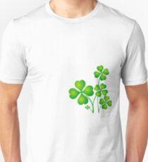 Patricks day clover leaves Unisex T-Shirt