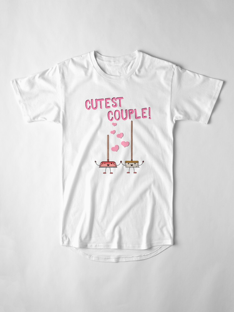 Alternate view of Cutest Couple Broom and Dustpan Valentine's Day Cleaning Art Long T-Shirt