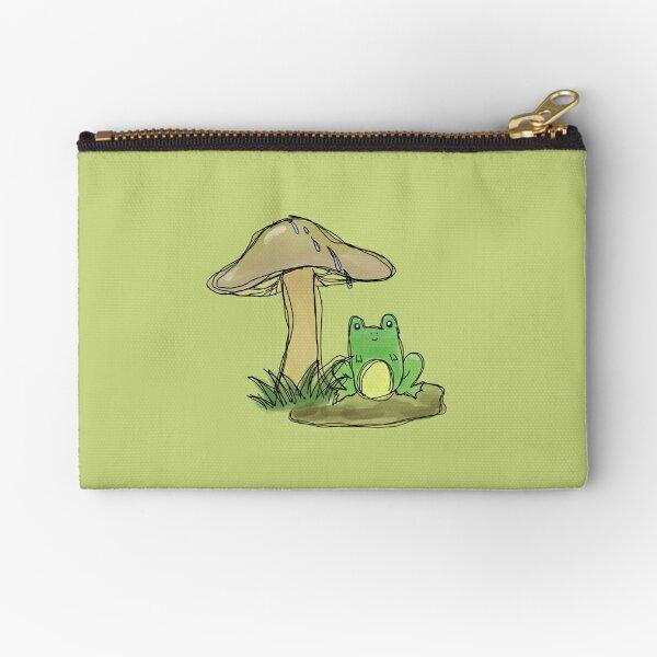 Mushroom Frog Zipper Pouch