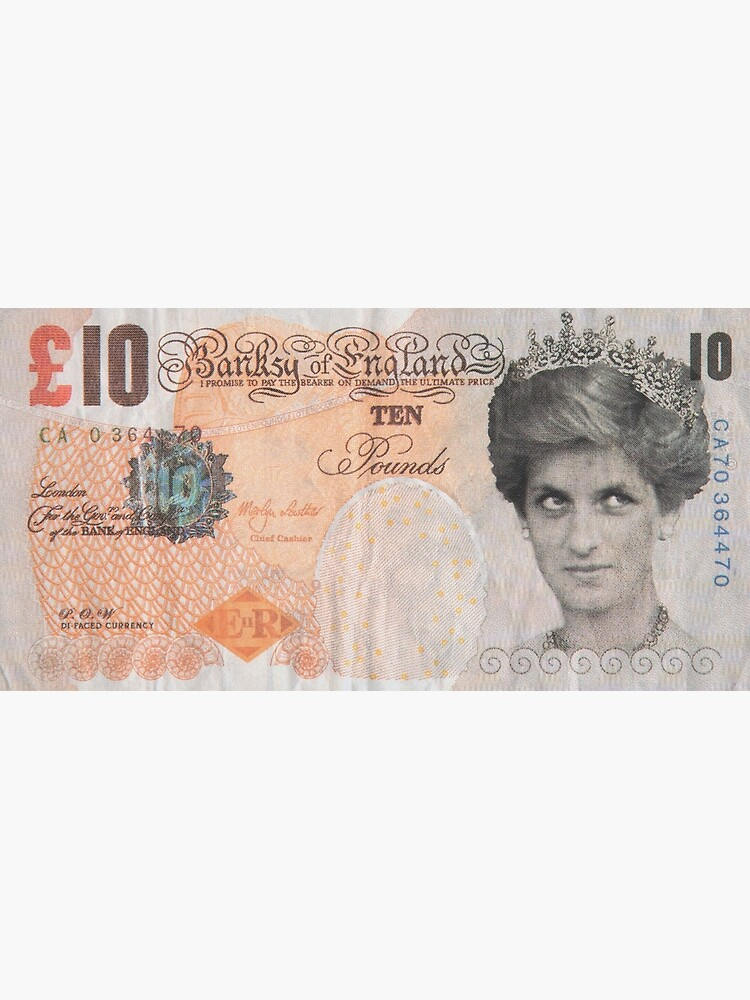 Banksy - Di-Faced Tenner, 10GBP Note by artboy213
