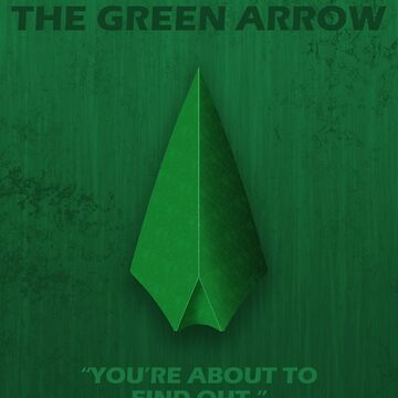 The Green Arrow Character Poster by fantastique2411
