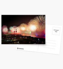 Kuwait Fireworks Display Postcards