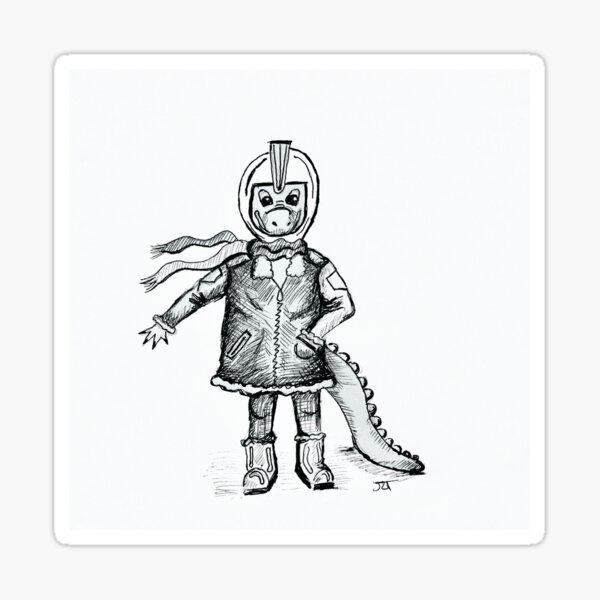 Kobold Pilot inspired by the Kobolds In Space! TTRPG Sticker