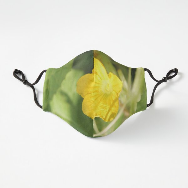 Yellow unnamed flower on a background of green leaves Fitted 3-Layer