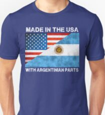 Made In America With Argentinian Parts Unisex T-Shirt