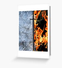 Fire & Ice ~ Game of Thrones Greeting Card