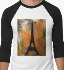 Eiffel Tower Rustic Men's Baseball ¾ T-Shirt