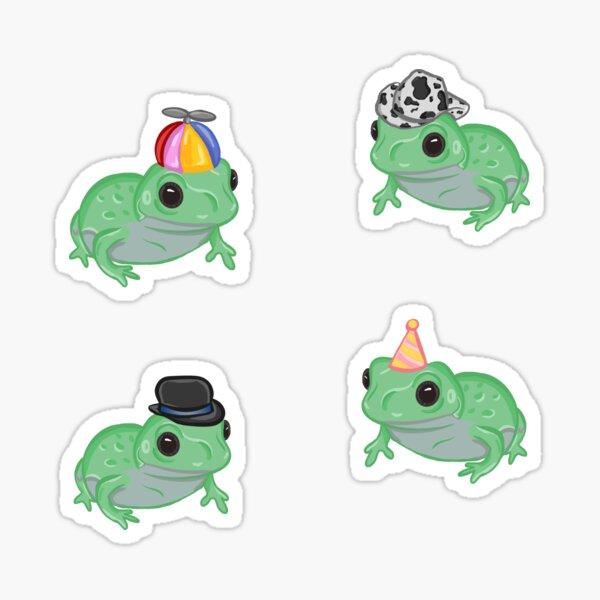 Frogs in Hats Sticker Pack  Sticker