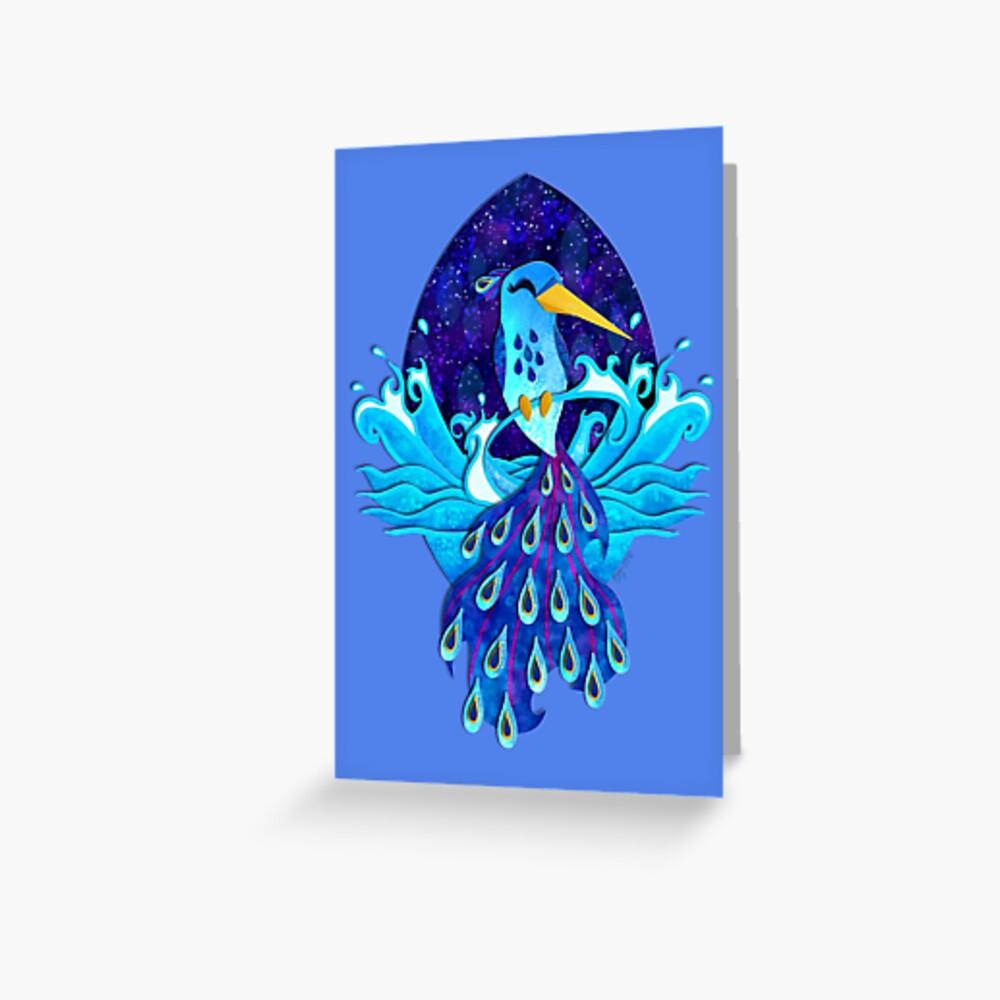Midnight Ocean Hummingbird Greeting Card