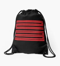 J11-23 Red Drawstring Bag