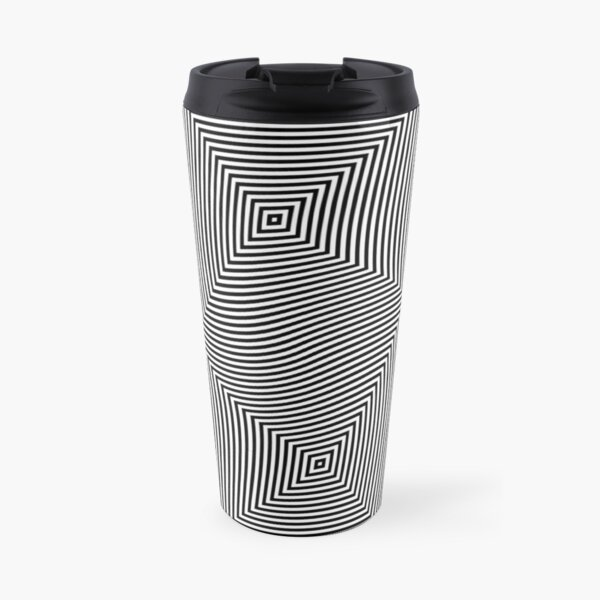 #Design, #abstract, #pattern, #illustration, psychedelic, vortex, modern, art, decoration Travel Mug