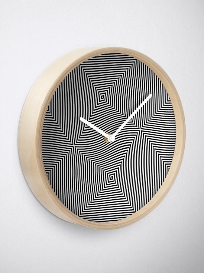 Alternate view of #Design, #abstract, #pattern, #illustration, psychedelic, vortex, modern, art, decoration Clock