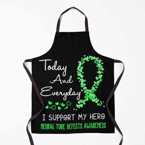 Today and Everyday I Support My Hero Neural Tube Defects Awareness Apron