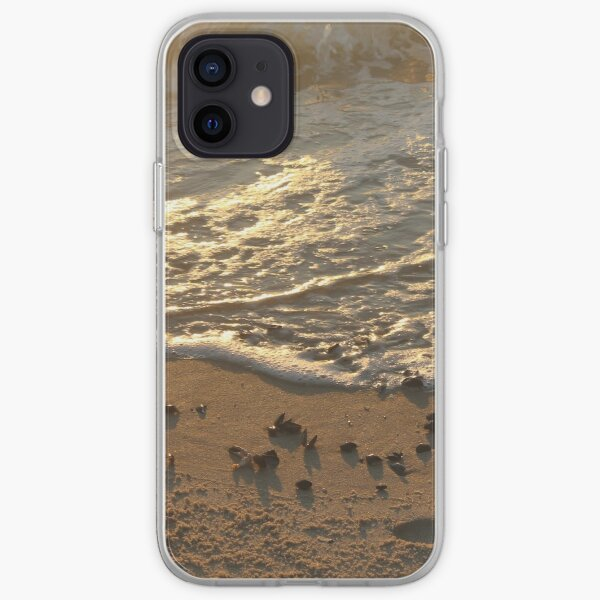 Sea foam, wave, sand, small stones iPhone Soft Case