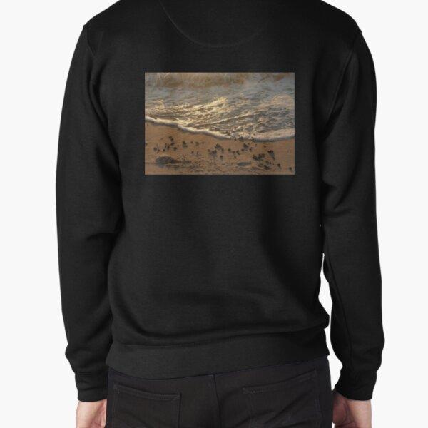 Sea foam, wave, sand, small stones Pullover Sweatshirt
