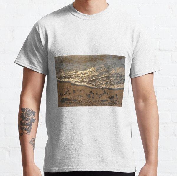 Sea foam, wave, sand, small stones Classic T-Shirt
