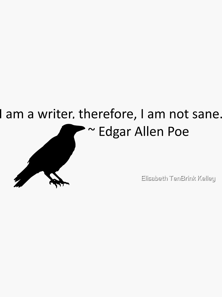 I am a writer, therefore, I am not sane (white) by dragondreamery