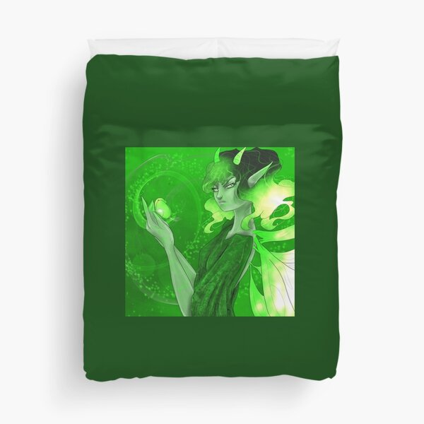 Green fairy Duvet Cover
