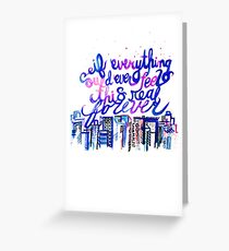 This Real Forever Greeting Card